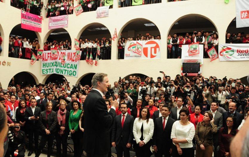 Alfredo del Mazo Maza, va por candidatura del PRI a la gubernatura