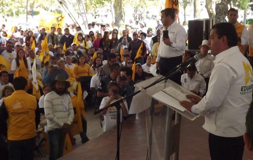 Eduardo Neri inicia precampaña por la gubernatura del Estado de México