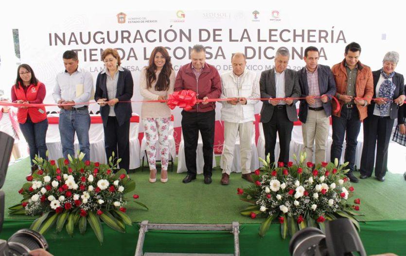 Pobladores de La Marquesa, ya cuentan con Lechería-Tienda Liconsa Diconsa