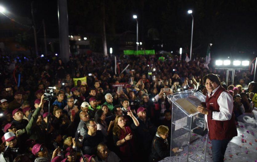 Delfina Gómez llama a terminar con 86 años de gobiernos priistas