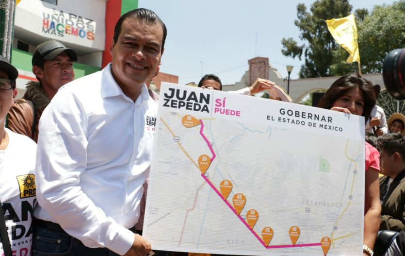"""Juan Zepeda presentó proyecto de nueva línea del Metro, """"La Paz a Chalco"""""""