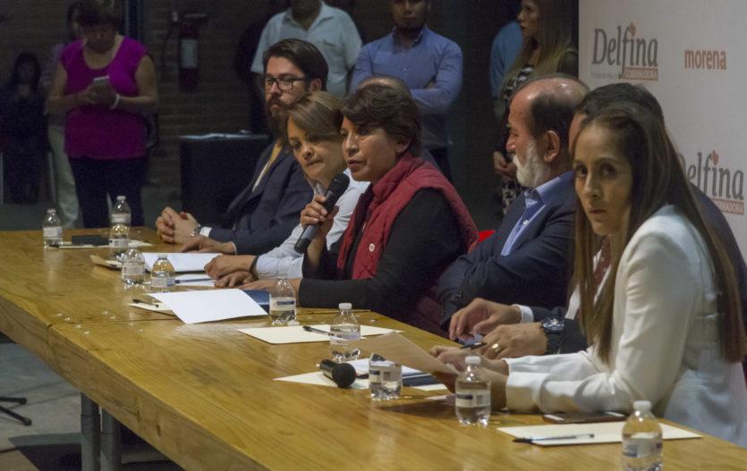 """Acabar con """"los moches"""" y transparentar contratos de obras: Delfina  Gómez"""
