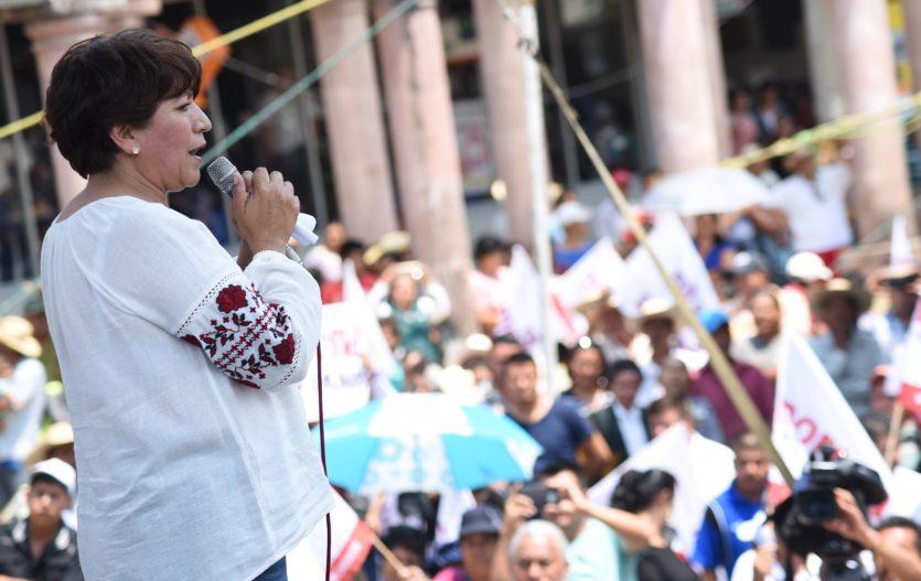 Delfina Gómez convoca a votar en libertad y no dejarse intimidar
