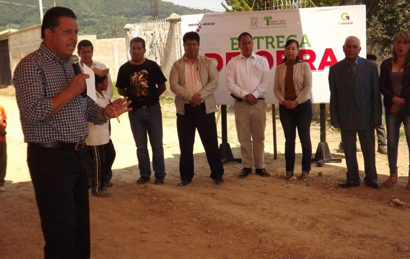 Roberto Sánchez Pompa inauguró ampliación de red de drenaje en la colonia Emiliano Zapata