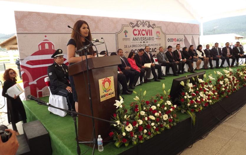 Rinden homenaje a Ocoyoacac en su 197 aniversario