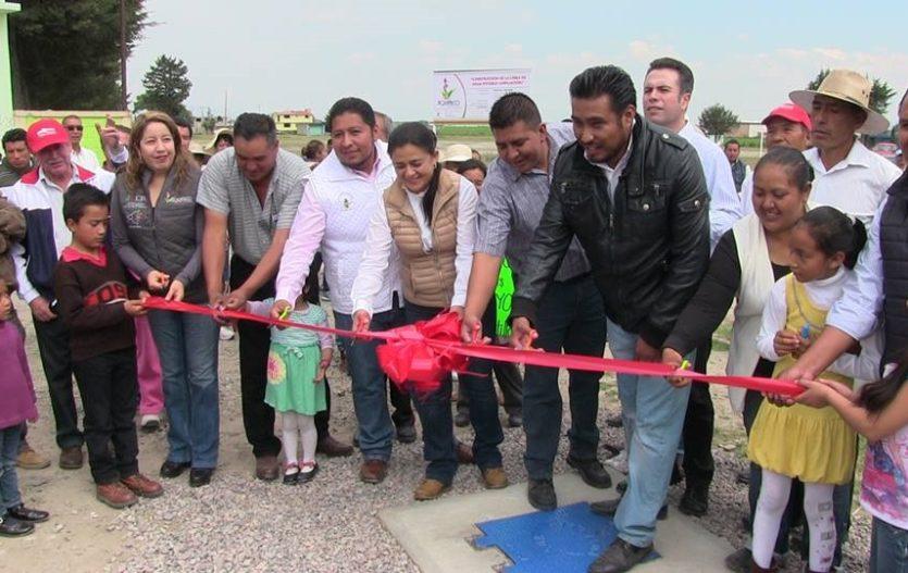 Amplían red de agua y de comunicaciones en Jiquipilco