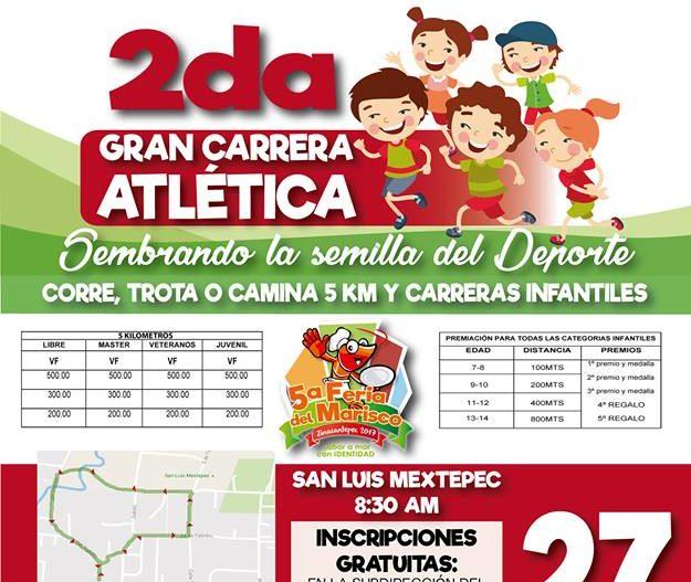 Zinacantepec invita a participar en carrera atlética este 27 de Agosto