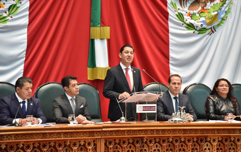 Diego Moreno es electo presidente de mesa directiva en el Congreso del Estado de México