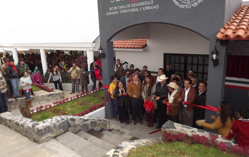 """Inauguran """"Casa de Bienes comunales"""" en San Pedro Atlapulco, Ocoyoacac"""