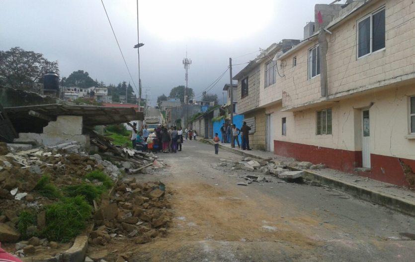 Abren dos albergues en Joquicingo ante afectaciones por el sismo