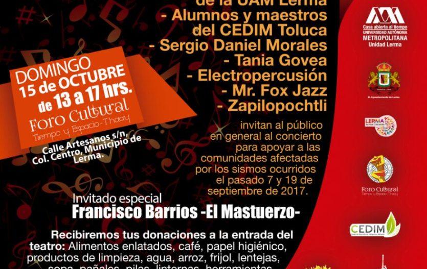 Concierto gratuito en Lerma a favor de damnificados del sismo del 19/S