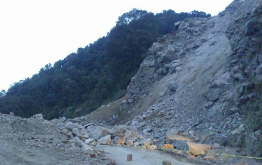 Carretera principal a Joquicingo seguirá cerrada hasta nuevo aviso