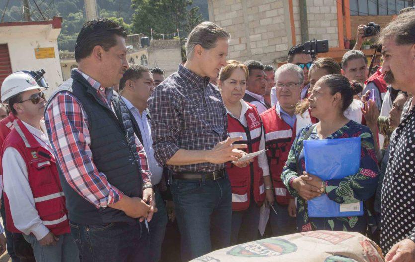 En Tenancingo incian entrega de materiales de autoconstrucción a quienes perdieron su vivienda a causa del sismo