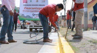 Inician trabajos de balizamiento en Zinacantepec
