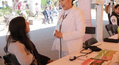 En Zinacantepec acercan servicios médicos y sociales, gratuitos a la población