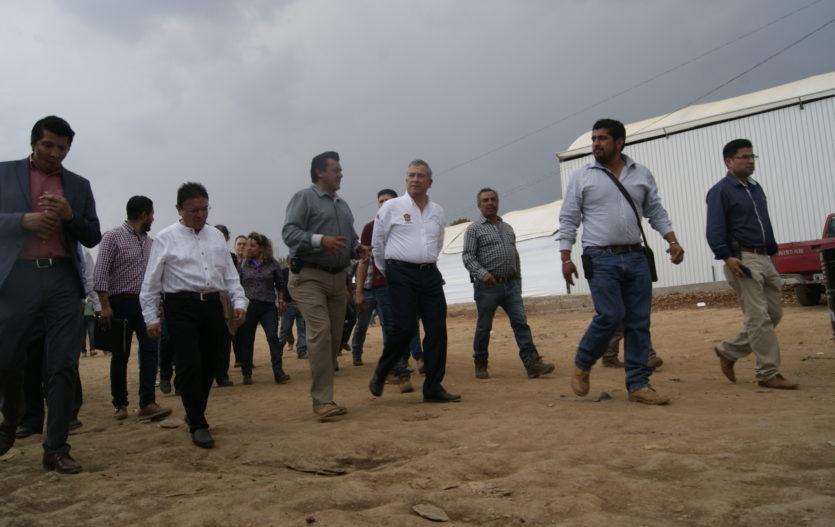 Supervisan predios en que edificarían EDAYO en Villa Guerrero