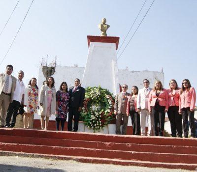 En Atizapán, rinden homenaje a Benito Juárez; y festejan inicio de la primavera