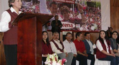 Delfina Gómez presentó ejes de trabajo en su arranque de campaña por el senado